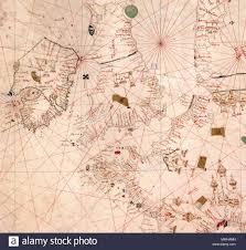English Nautical Chart Of The North Sea And Atlantic Coast