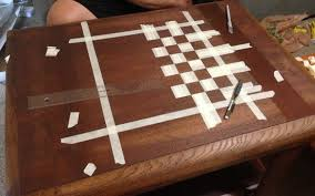 Homemade Wooden Board Games How To Make A Custom Chess Board From An Old Wooden Table For 97