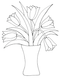 Tulip Coloring Pages Print Printable Adult Flowers Flower Adults ...