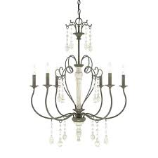 amp company collection 6 light french country chandelier chandeliers for dining room