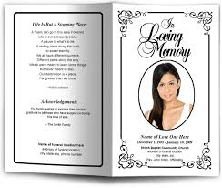 funeral pamphlet frame borders cadence letter single fold template
