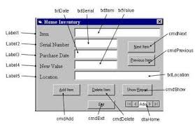 Home Inventory System Vb6 Database Exercise Home Inventory Database