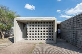 concrete homes designs. the architect used a variety of textured concrete blocks and glass to form series considered spaces homes designs