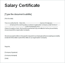 Example Of A Certificate Of Employment Certificate Of Employment With Compensation Format Sample Form New