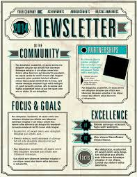 Examples Of Company Newsletters 6 Elements Of A Great Email Newsletter Etmg