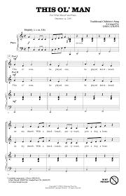 locomotive breath piano sheet music this ol man sheet music by greg gilpin 3 part mixed 163900