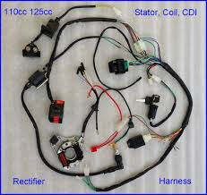 50 70 90 110 125cc cdi wire harness stator assembly wiring set atv complete electrics atv quad 50 70 110 125cc coil cdi harness wiring harn a2