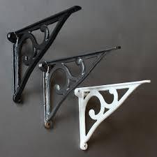 8 antique victorian cast iron shelf