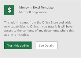 get started with money in excel