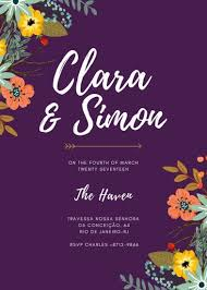 Canva Seating Chart Template Modern Floral Purple Wedding Invitation Templates By Canva