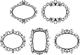 antique white picture frames 8 x 10 vintage 11x14 large and borders isolated on for design