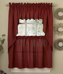 Solid Red Kitchen Curtains