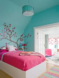 17 Cool Green and Blue Room Design Ideas : Contemporary Bedroom With Blue  Wall Color And