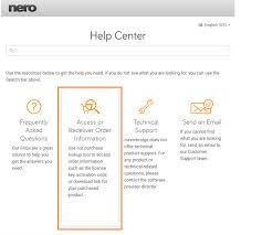 official nero software support customer service and technical 01 cb help center