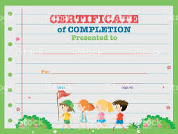 certificates of completion for kids art award certificate template gallery templates example free download