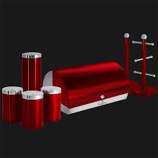 Red Kitchen Accessories Bh 1347 Kitchen Roll Holder Metallic Red Berlinger Haus