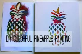 DIY Colorful Pineapple Painting | Two paintings in one project - YouTube