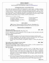 Sample Resume For Financial Services 10 Sample Resume Objectives For Entry Level Proposal Sample