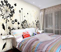 bedroom wall ideas for teenage girls. Brilliant Teenage Colorful Bed Sets For Teenage Girl Bedroom Wall Ideas With Flower Graffiti  Art And Girls I