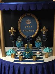 Blue And Gold Baby Shower Decorations A Royal Prince Or King Themed Baby Shower Party Time