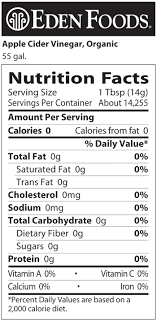 health benefits of vinegar go to the next page to learn about the nutritional value of vinegar look up all nutritional information like fat or carbohydrate