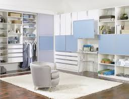 White beadboard bedroom cabinet furniture Wood White And Blue Walk In Closet With Cabinets Shelves Closet Rods Sliding Doors And Fold Out Joss Main Custom Closets Custom Closet Storage Design By California Closets