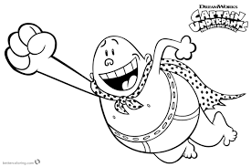 Captain Underpants Coloring Pages Flying Free Printable Coloring Pages