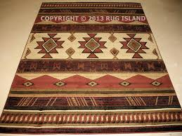 5 8 5393 x 7392 southwestern western lodge cabin rustic area rugs