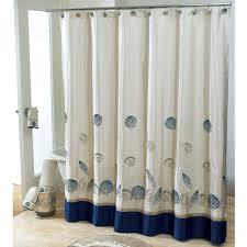 Nautical Home Decor Fabric Seashell Fabric Shower Curtain