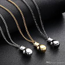 boxing glove necklace sports equipment gold jpg