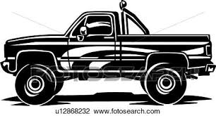Pickup Truck Clipart | u12868232 | Fotosearch