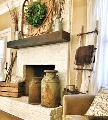 i want a rustic chunky mantel fireplace white or grey
