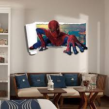 spiderman 3d wall mural stickers