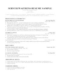 Resume Templates Examples Free Magnificent Resume Template Examples Free Resume For Bartenders Bartender Resume