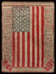 unusual american flag rug