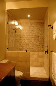 Doorless And Modern Bathroom Shower Design And Decorating With Single Shower  Head For Small Spaces House
