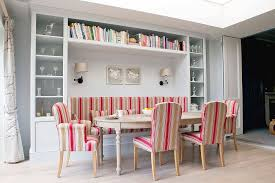 dining room built ins ideas. view in gallery banquette seating for the scandinavian dining space with smart shelves all around and colorful chairs [ room built ins ideas
