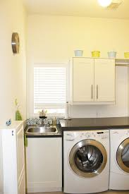 Decorations:Small Laundry Room Idea With Green Paint Wall Color Idea  Laundry Room Design With