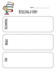 Story Template Beginning Middle End Retelling A Story Beginning Middle And End