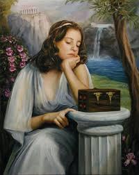 this image beautifully shows the curiosity and hesitation of  Картинки по запросу clothes base on greek mythology pandora