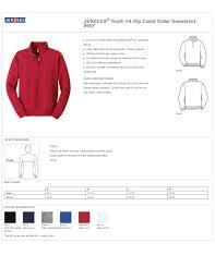 Jerzees Hoodie Size Chart Boys 1 4 Zip Pullovers Youth Fleece Sweatshirts True To