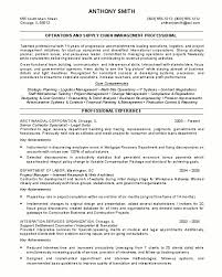 Sample resume for Operations & Supply Chain Management