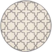 indoor outdoor round safavieh cambridge ivory silver 6 ft x round area rug