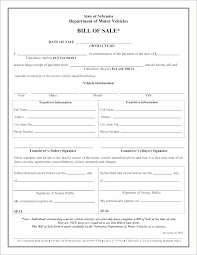 Free Motor Vehicle Bill Of Sale Free Bill Of Sale For Trailer Printable Blank Template Ooojo Co