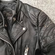 mens vintage style leather biker style jacket punk perfecto