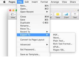 How To Write And Save A Pdf In Apple Iwork Pages The Keep