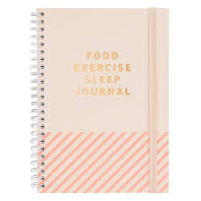 Food And Exercise Diary Food Exercise Sleep Journal Inspiration