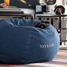 denim enzyme washed beanbag