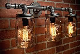 mason jar lighting fixtures lighting for bathroom unique mason jar lighting fixtures