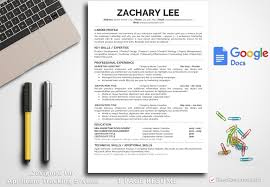 Resume Template Zachary Lee